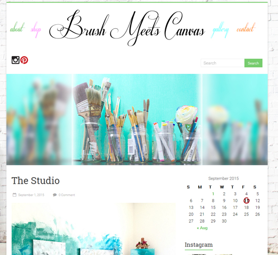 Brush Meets Canvas - Before New Theme